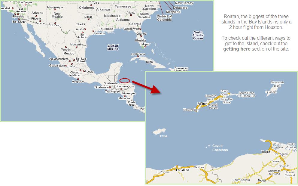 Utila Bay Islands Map